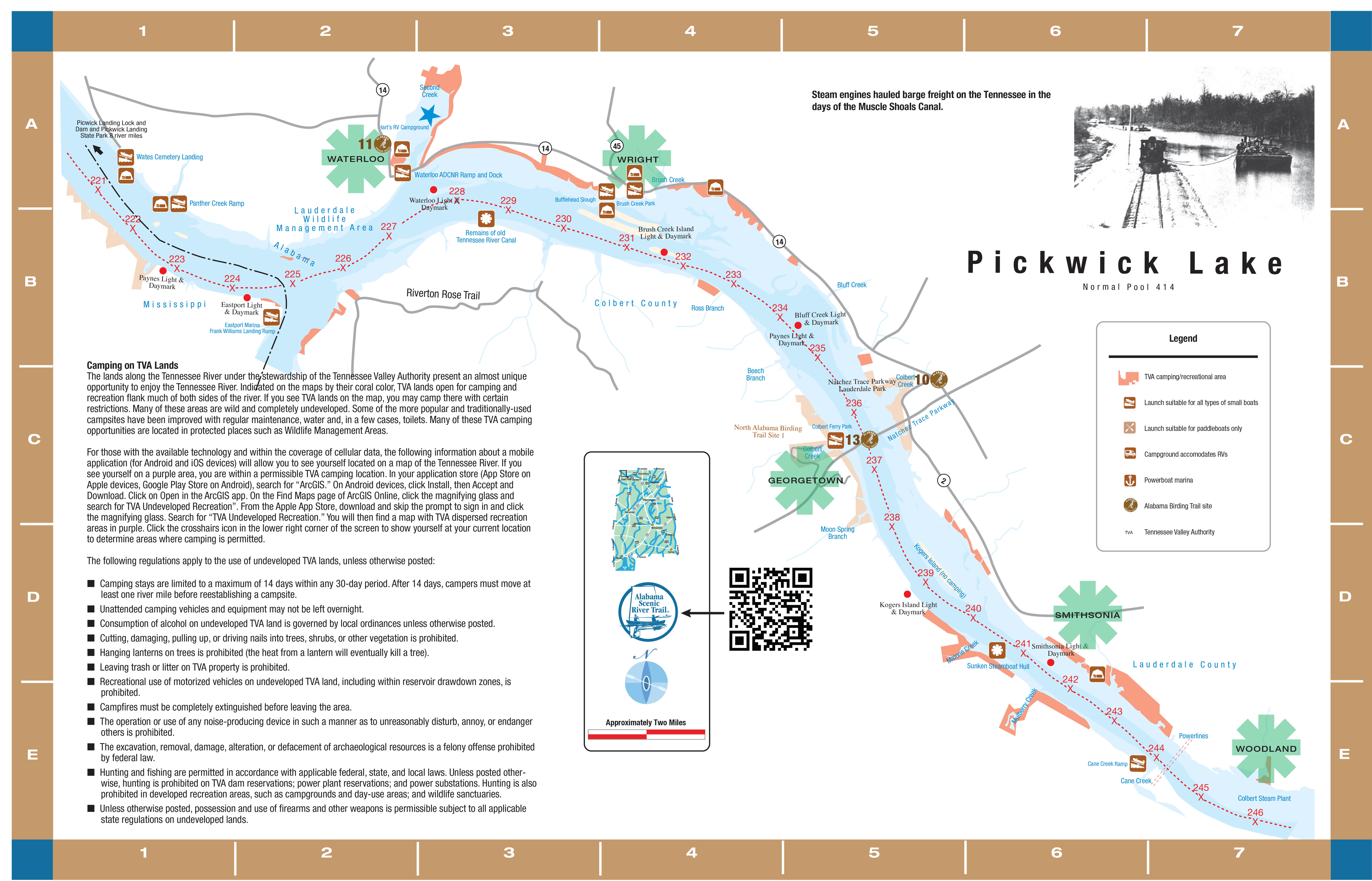 Pickwick Lake Map Tennessee River—Pickwick Lake to Alabama Mississippi State Line