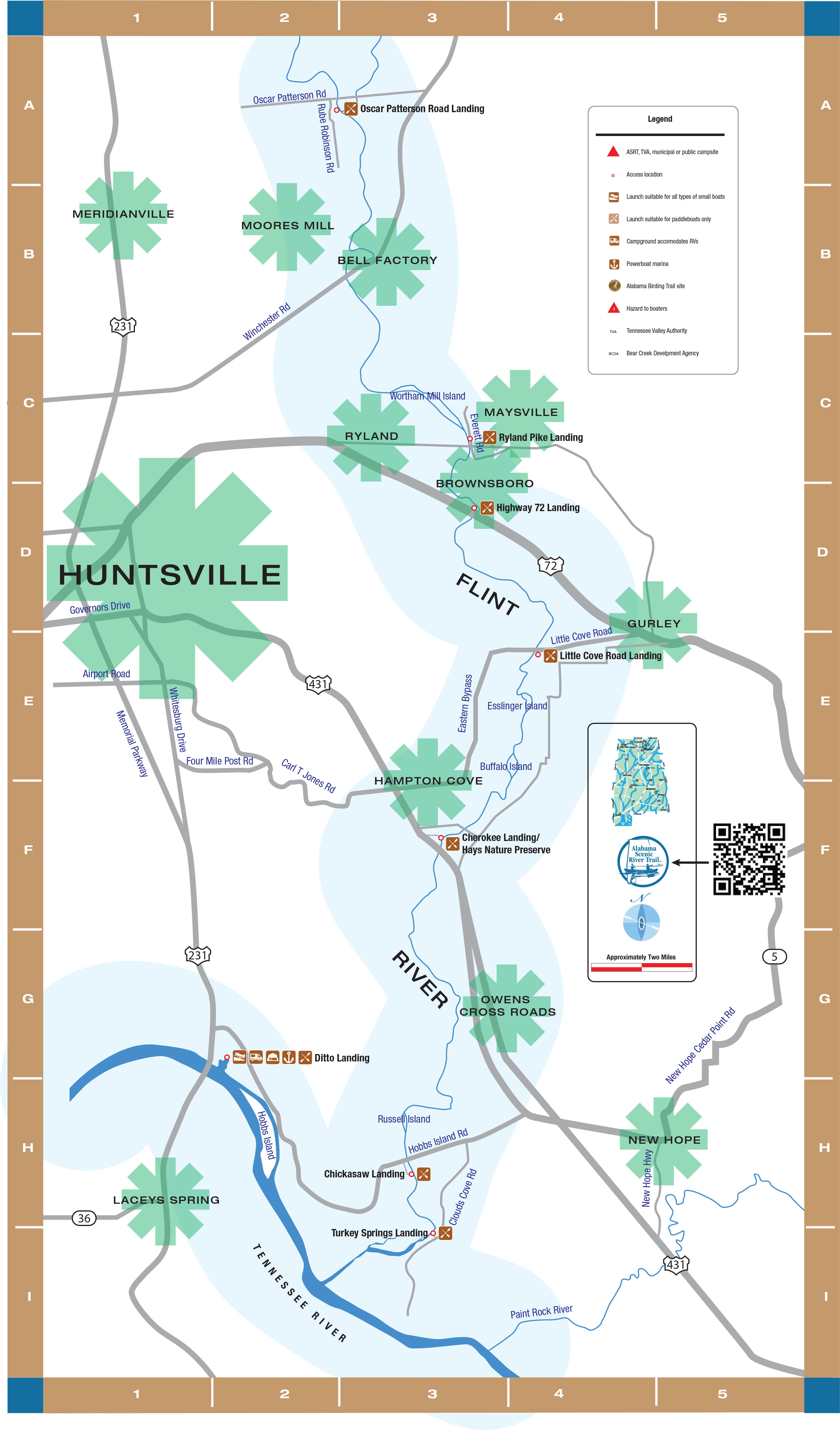 graphic about Printable Map of Alabama titled Flint River Rivers ASRT
