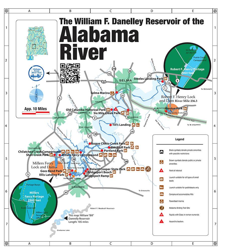 Alabama River—Upper, William F  Dannelly Lake | Rivers | ASRT